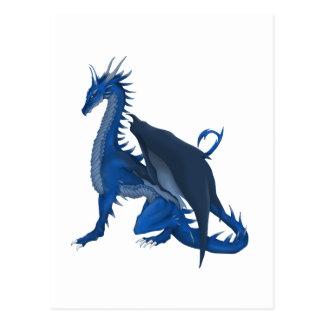 Dragón azul tarjeta postal