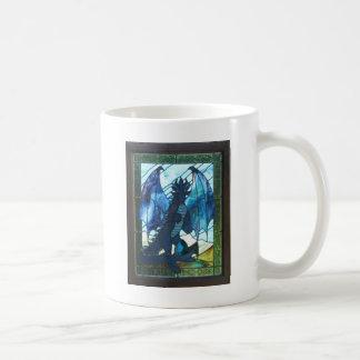 Dragón azul taza clásica
