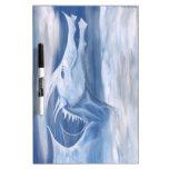 Dragón azul y blanco pizarras blancas de calidad