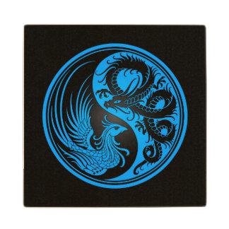 Dragón azul y negro Phoenix Yin Yang