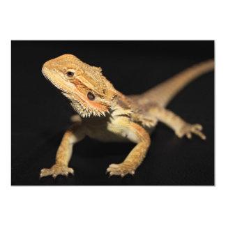 Dragón barbudo curioso 3 invitación 12,7 x 17,8 cm