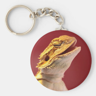 Dragón barbudo de risa llavero personalizado