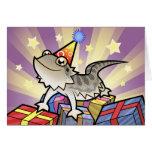 Dragón barbudo del cumpleaños/dragón de Rankin Tarjetón