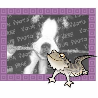 Dragón barbudo del dibujo animado dragón de Rankin Escultura Fotográfica