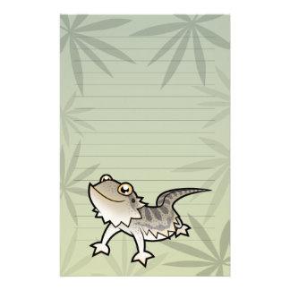 Dragón barbudo del dibujo animado dragón de Rankin Papeleria De Diseño