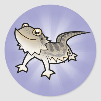 Dragón barbudo del dibujo animado/dragón de Rankin Pegatina Redonda