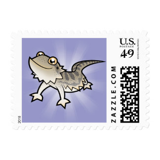 Dragón barbudo del dibujo animado/dragón de Rankin Sello Postal