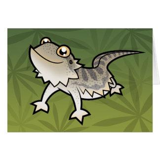 Dragón barbudo del dibujo animado/dragón de Rankin Tarjeta De Felicitación