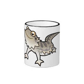 Dragón barbudo del dibujo animado dragón de Rankin Taza