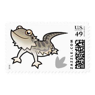 Dragón barbudo del dibujo animado/dragón de Rankin Timbre Postal