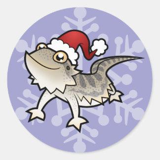 Dragón barbudo del navidad/dragón de Rankins Pegatina Redonda