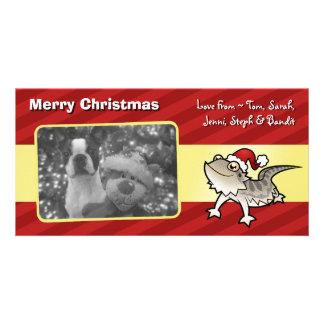 Dragón barbudo del navidad/dragón de Rankins Tarjetas Fotograficas
