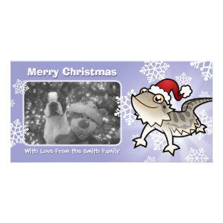 Dragón barbudo del navidad/dragón de Rankins Tarjetas Fotográficas Personalizadas