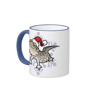 Dragón barbudo del navidad dragón de Rankins Tazas De Café