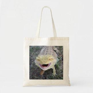 Dragón barbudo feliz estupendo bolsas