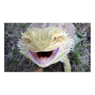 Dragón barbudo feliz estupendo tarjetas de visita
