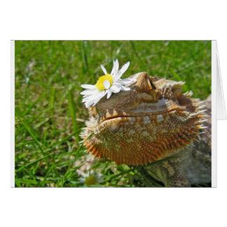 Dragón barbudo tarjeta de felicitación
