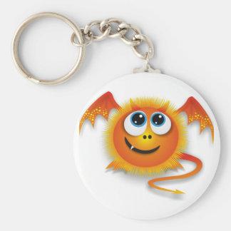 Dragon Basic Round Button Keychain
