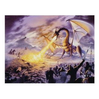 Dragon Battle Postcard