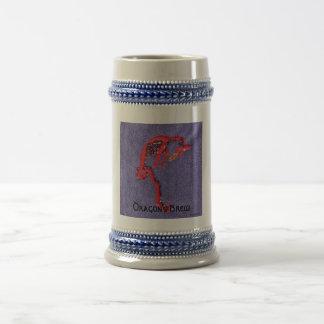 Dragon Beads Denim Embroidery Print Coffee Mug