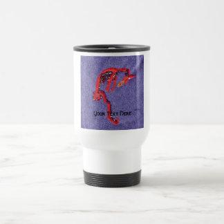 Dragon Beads Denim Embroidery Print Travel Mug
