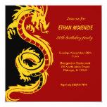 Dragon Birthday 5.25x5.25 Square Paper Invitation Card