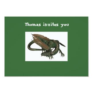 "Dragon Birthday Invitation 5"" X 7"" Invitation Card"