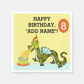 Dragon Birthday Paper Napkin