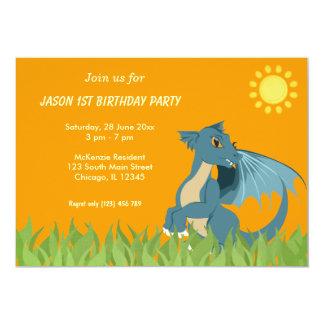 Dragon Birthday Party Card