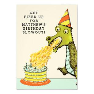 Dragon Birthday Party Invitations Announcements Zazzle