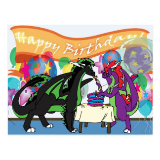 Dragon Birthday Party Post Card