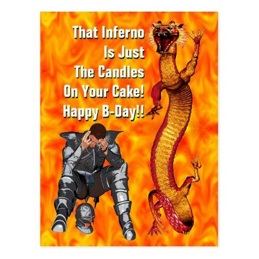 Dragon Birthday Postcard