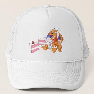 Dragon Birthday with Strawberry Cake Hat