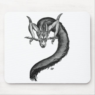Dragon black and white Design Mouse Pad