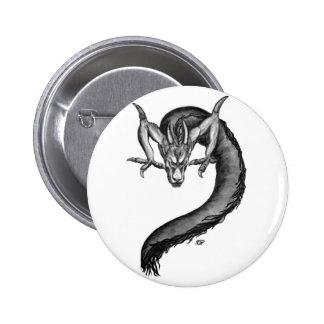 Dragon black and white Design Pinback Button