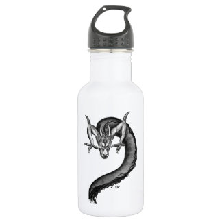 Dragon black and white Design Stainless Steel Water Bottle