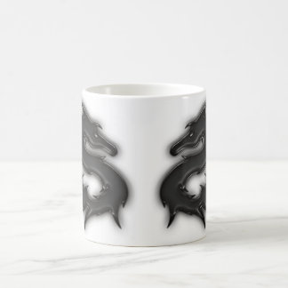 Dragon black coffee mug