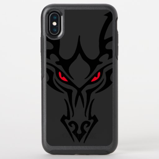 Dragon Black Dark Scary Red Glowing Eyes OtterBox Symmetry iPhone XS Max Case
