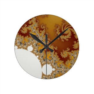 Dragón blanco - arte del fractal relojes