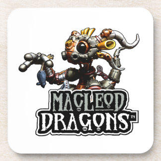 Dragón blanco del MD Steampunk Posavasos