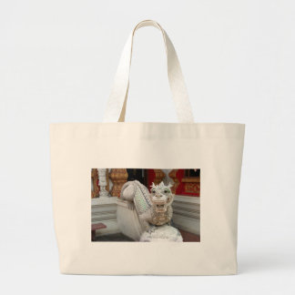 Dragón blanco del templo bolsa lienzo