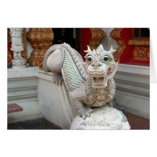 Dragón blanco del templo tarjeta de felicitación