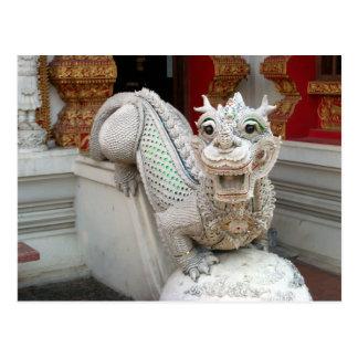 Dragón blanco del templo postales