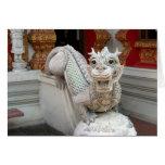 Dragón blanco del templo tarjetón