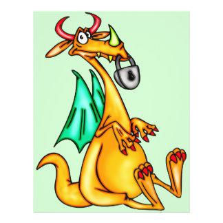 """Dragón bloqueado del labio folleto 8.5"""" x 11"""""""