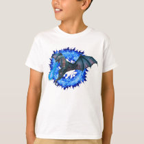 Dragon Blue Fire Breathing Personalized T-Shirt