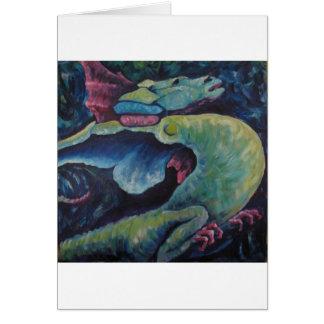 Dragon Bluegreen Greeting Cards