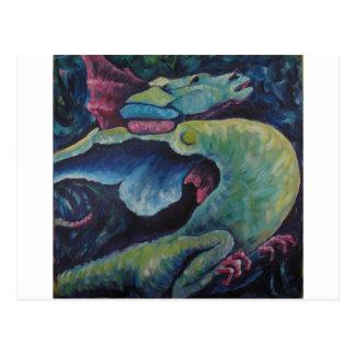 Dragon Bluegreen Postcard