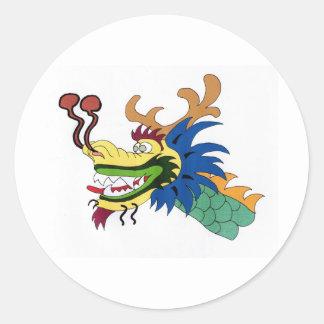 Dragon boat classic round sticker