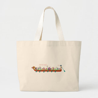 Dragon Boat - Fire Dragons Large Tote Bag